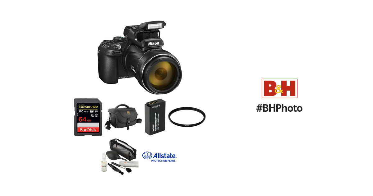 Nikon COOLPIX P1000 Digital Camera Deluxe Kit B&H Photo Video