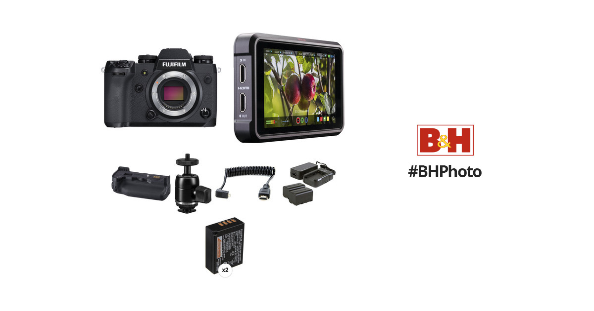 FUJIFILM X-H1 Mirrorless Digital Camera with Battery Grip and
