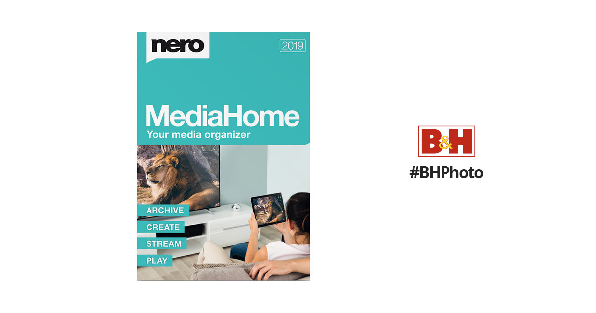Nero MediaHome 2019 Unlimited (Download) AMER-11790000/639 B&H