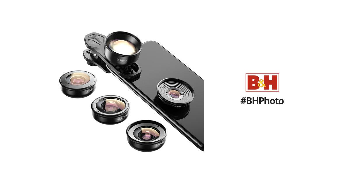 Apexel 4K HD Mobile Phone 5-in-1 Camera Lens Kit APL-HD5 B&H