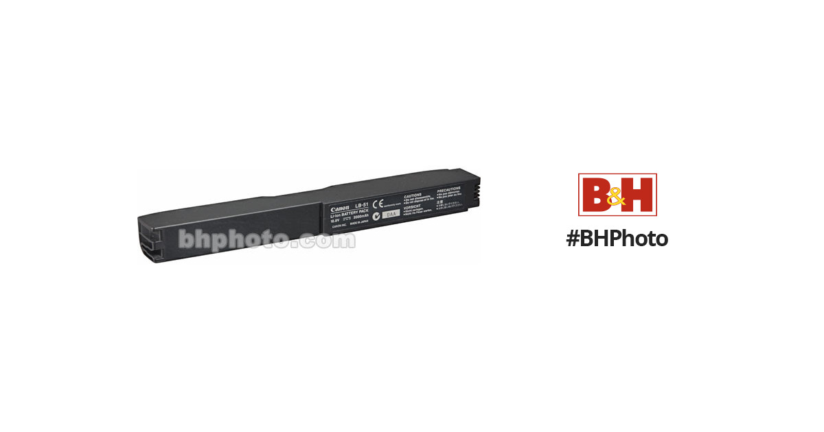 Canon LB-51 Lithium-Ion Battery 8409A003 B&H Photo Video