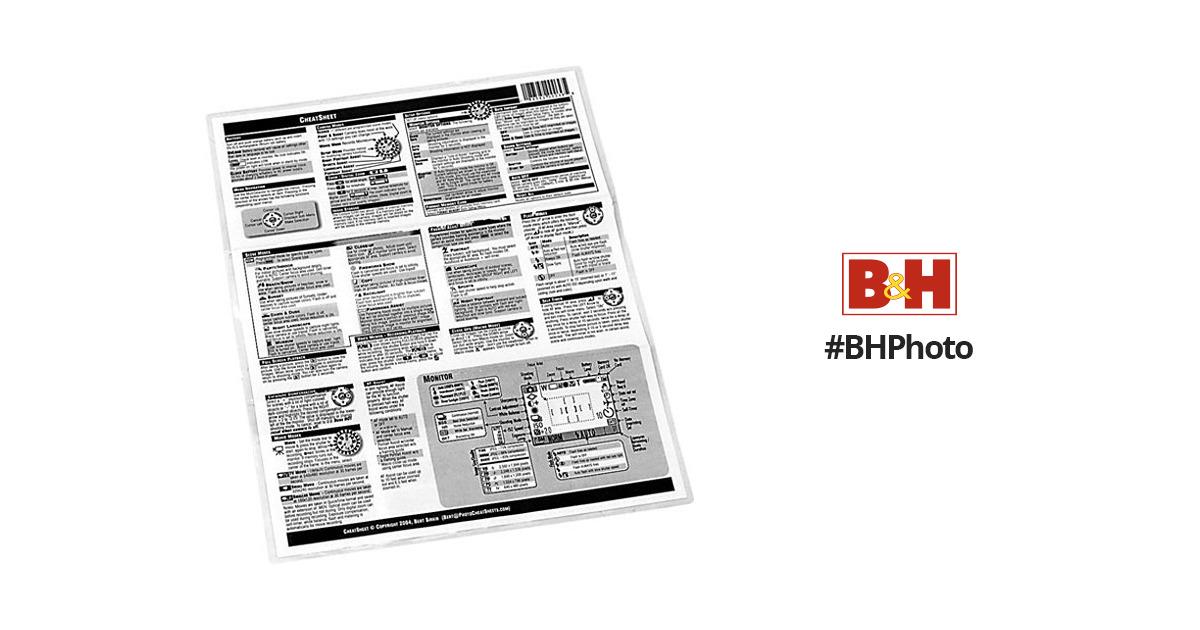 PhotoBert CheatSheet for Fuji FinePix S2 Digital SLR TB27