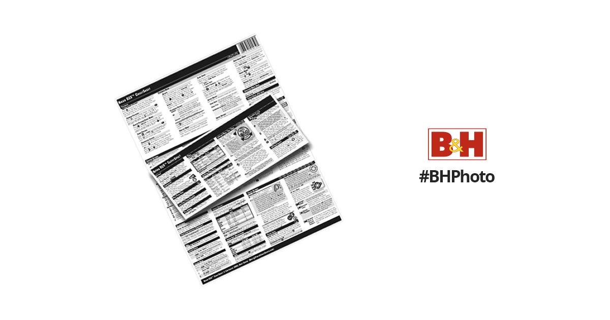 PhotoBert CheatSheet for Canon Powershot S3 IS Digital TB70-06