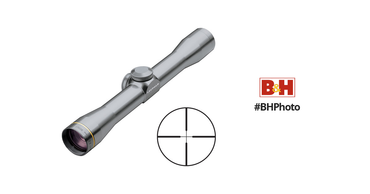 Leupold 2.5x28 FX-II Scout Riflescope w/ Duplex 62230 B&H