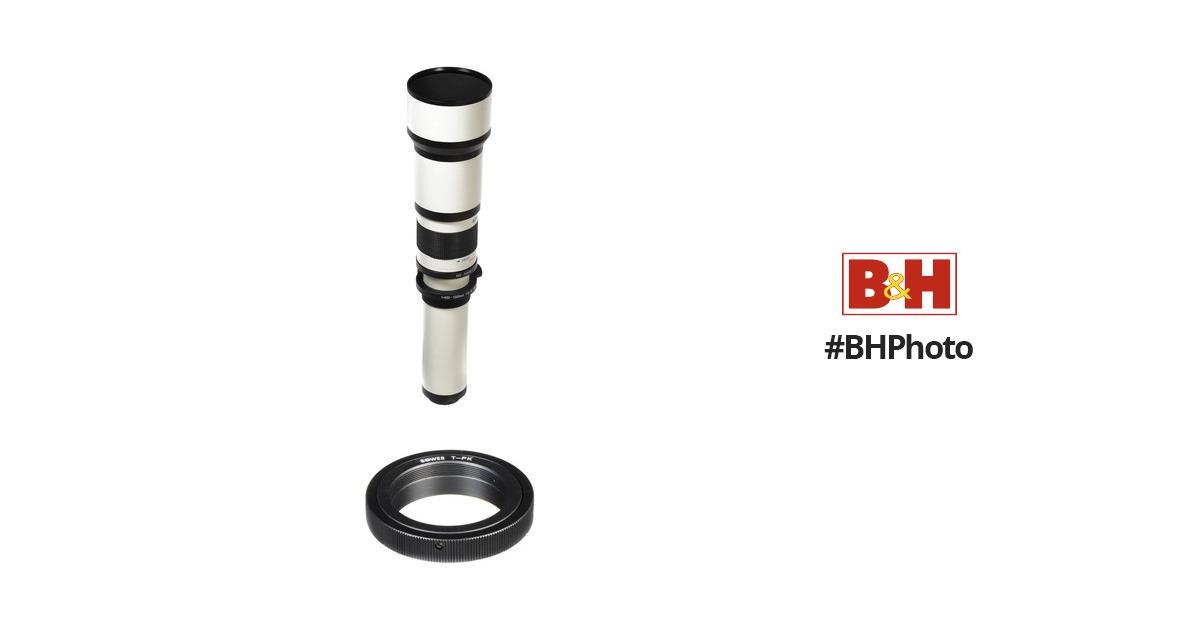 Bower 650-1300mm f/8-16 Manual Focus Lens for Pentax B&H Photo