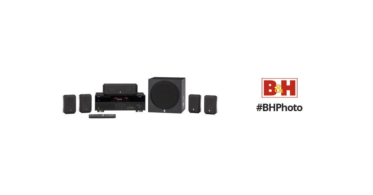 Yamaha 5.1 Channel Home Theater in a Box System YHT-393BL B&H