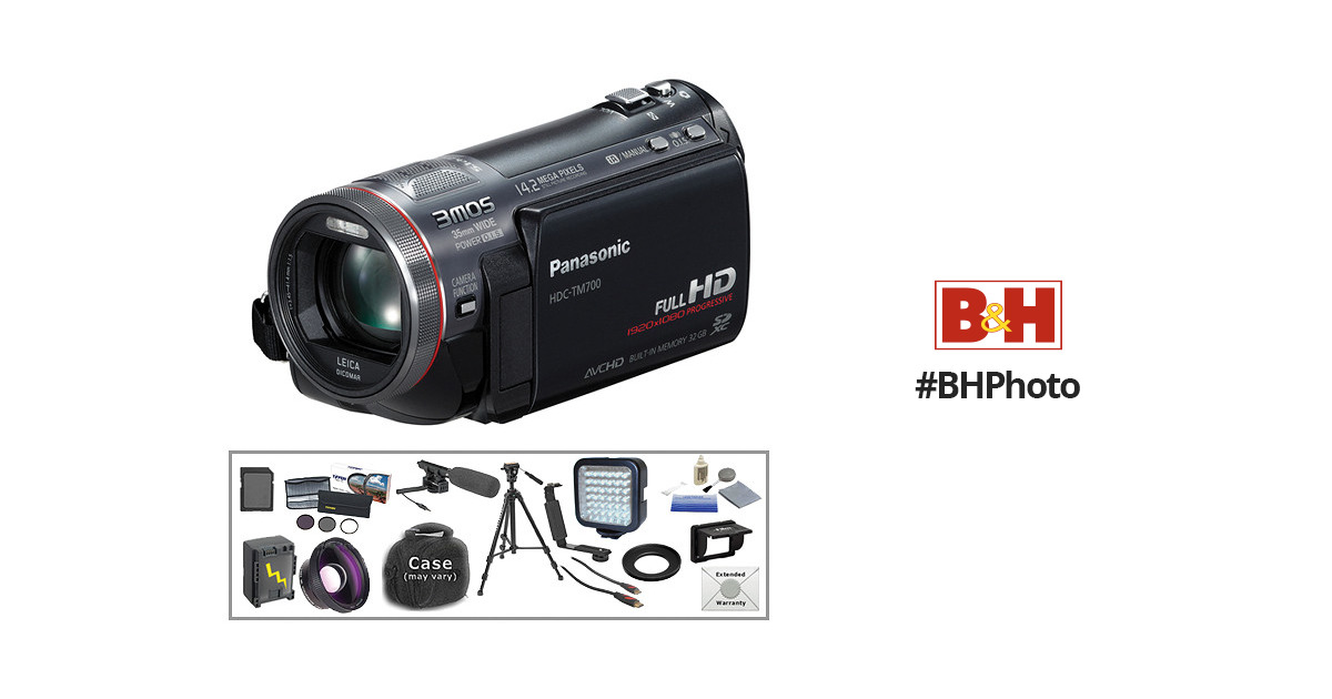 Panasonic HDC-TM700 HD Camcorder with Advanced Accessory Kit