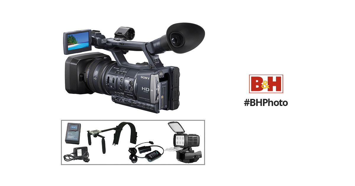 Sony HDR-AX2000 Camcorder Handheld Power Kit B&H Photo Video
