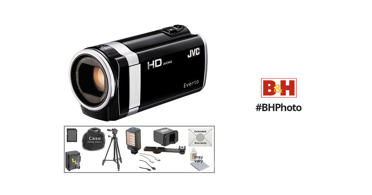 JVC GZ-HM650 HD Everio Camcorder with Deluxe Accessory Kit B&H