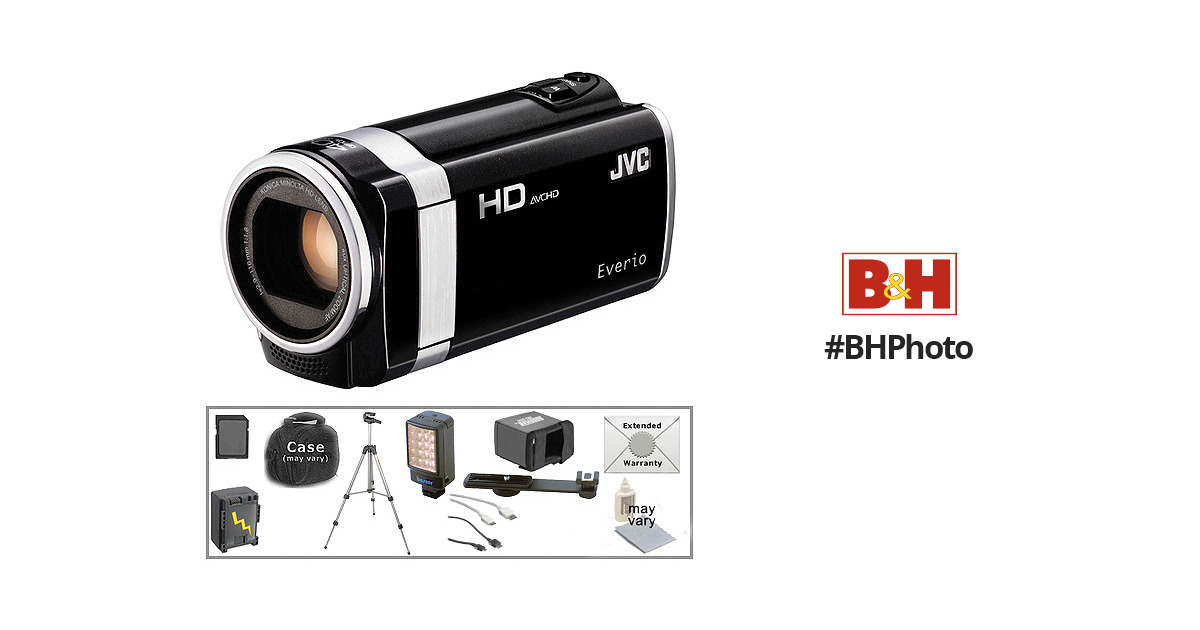 JVC GZ-HM670 HD Everio Camcorder with Deluxe Accessory Kit B&H