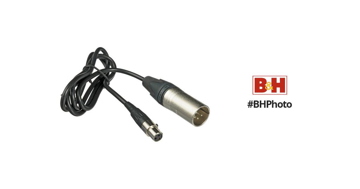 Fast Forward Video 3-Pin Mini XLR Female to 4-Pin XLR