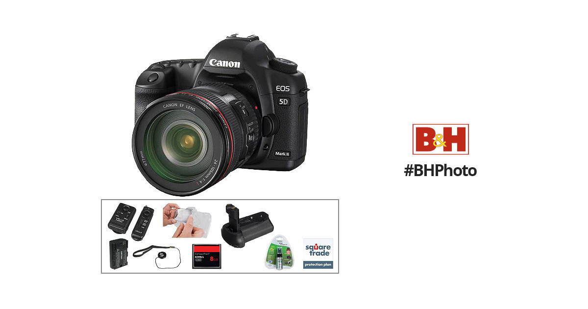 Canon EOS 5D Mark II DSLR & 24-105mm Lens with Basic B&H