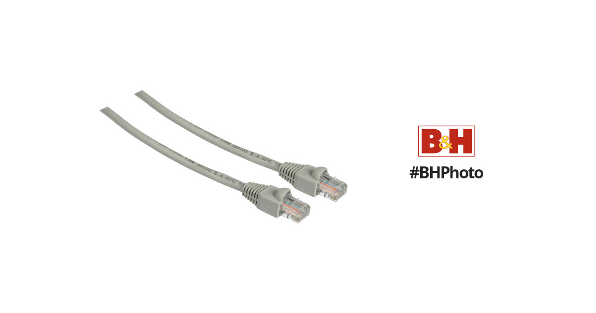 Pearstone 7' Cat5e Snagless Patch Cable (Gray) CAT5-07G B&H