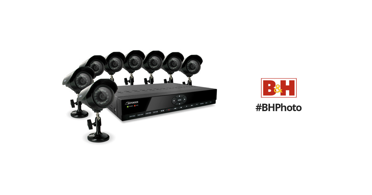 Defender SN301-8CH 8-Channel H.264 DVR Security SN301-8CH-008