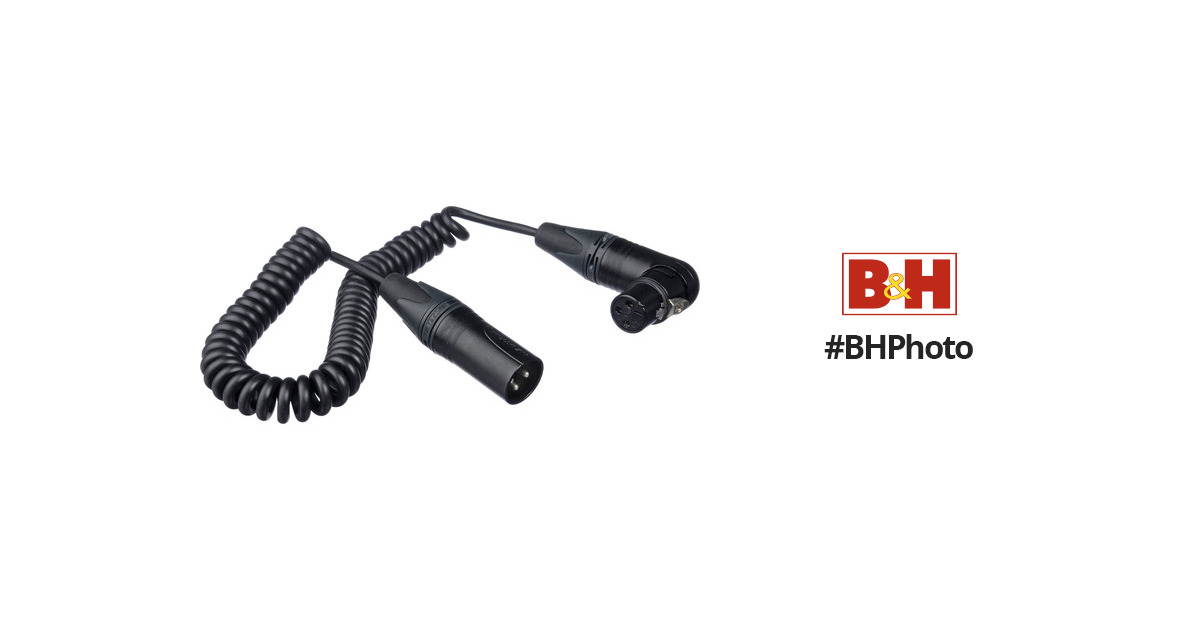 Kopul Coiled 3-Pin XLR-M to Angled 3-Pin XLR-F Cable