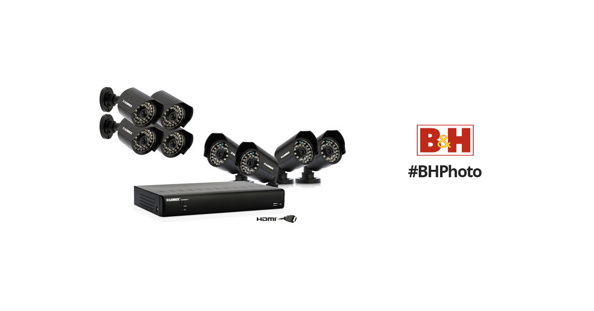 Lorex Eco Black Box 16ch Network DVR; (8) 480TVL LH0161001C8F