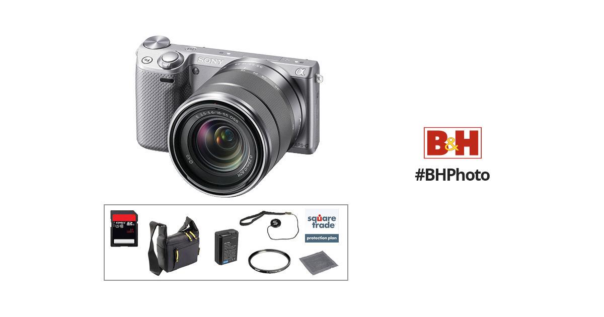 Sony Alpha NEX-5R Mirrorless Digital Camera with 18-55mm Zoom