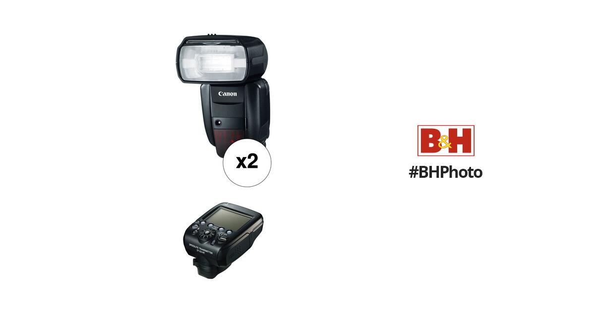 Canon Speedlite 600EX-RT Essential Two Flash Wireless Kit B&H