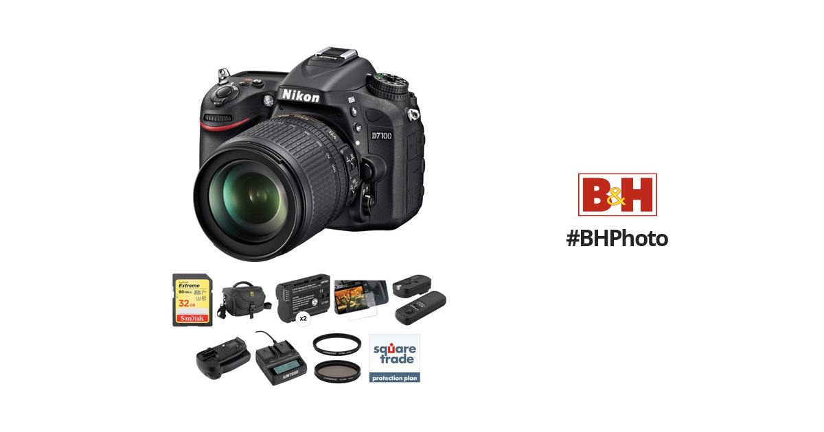Nikon D7100 DSLR Camera with 18-105mm Lens Deluxe Kit B&H