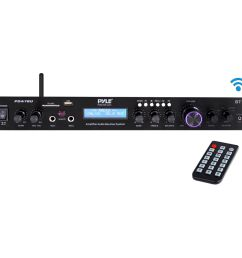pyle pro pda7bu stereo receiver with bluetooth [ 1000 x 1000 Pixel ]