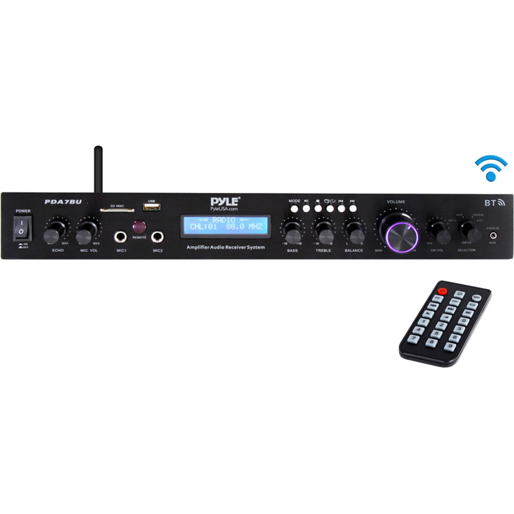 medium resolution of pyle pro pda7bu stereo receiver with bluetooth