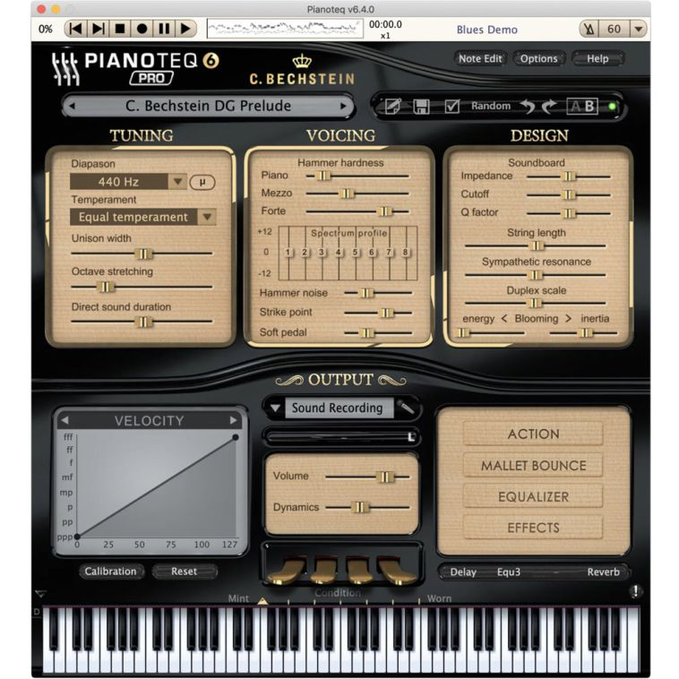 Pianoteq C. Bechstein Digital Grand Piano Virtual 12-41633 B&H