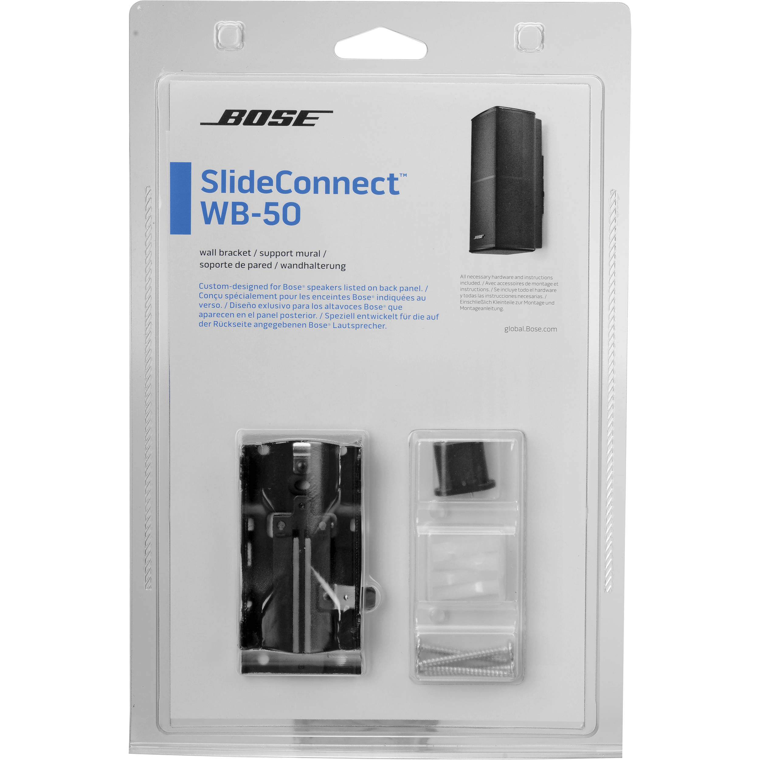 Bose SlideConnect WB50 Wall Bracket Black 7164020010 BH