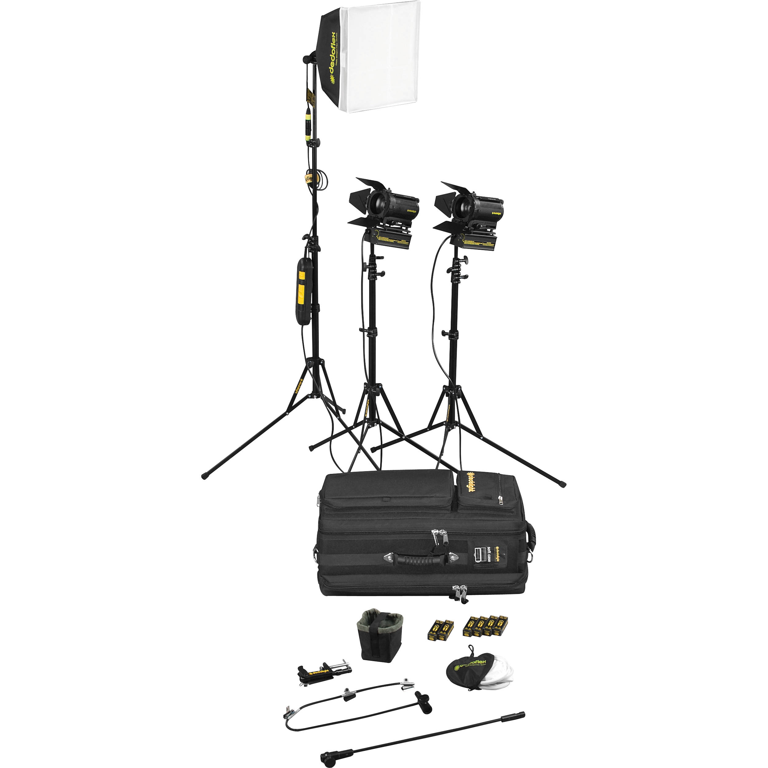 dedolight sps3e 3 light portable lighting kit 230v