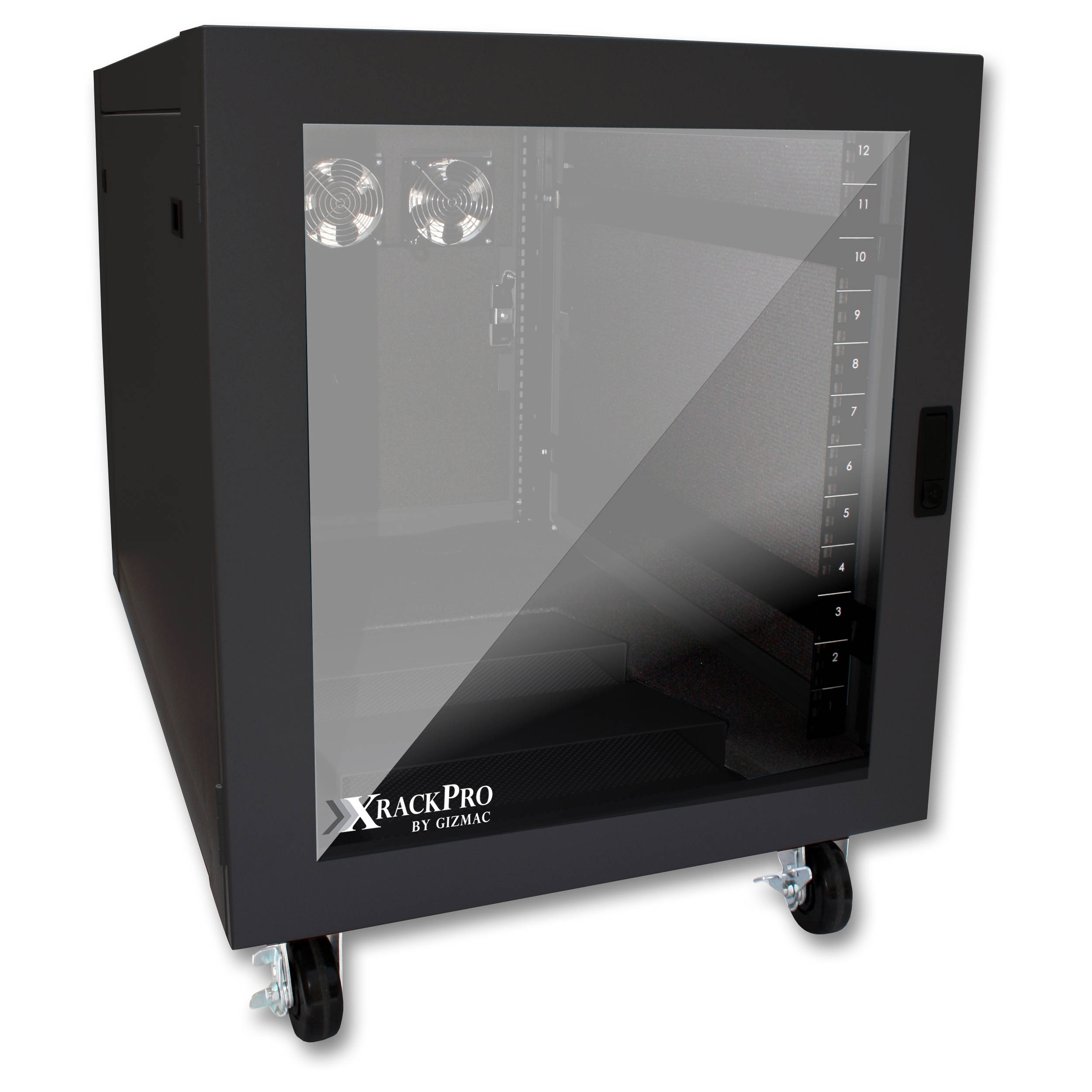xrackpro2 noise reduction server rack enclosure 12 ru black