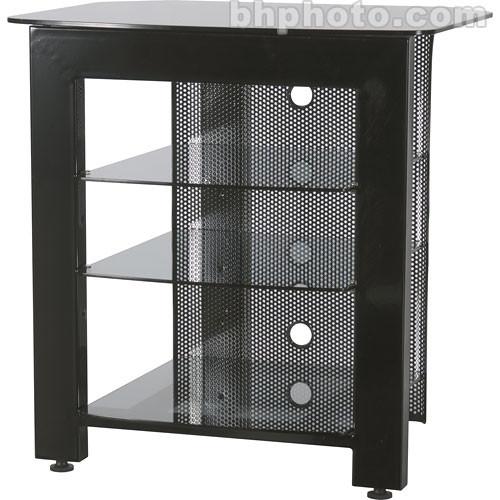 sanus steel 4 shelf audio video stand black