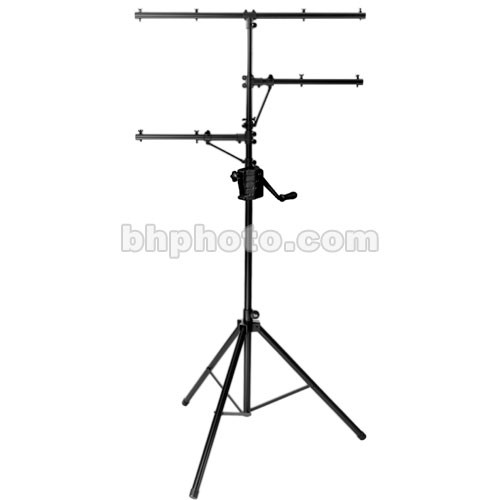 on stage power crank up lighting stand black 11 5