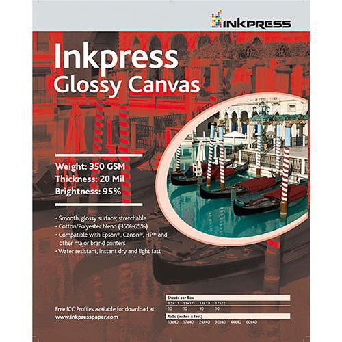 inkpress media glossy canvas