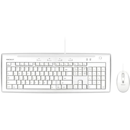 Macally USB Slim Keyboard and Optical Game Mouse