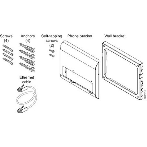 Cisco CP-8800-WMK Spare Wall Mount Kit for 8800 CP-8800