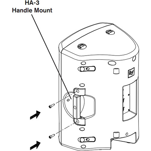 Electro-Voice HA-3-BLK VSA-1 Handle Adapter F.01U.118.942 B&H