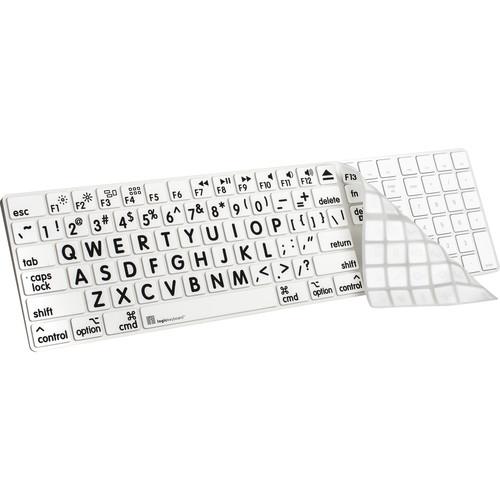 LogicKeyboard XL-Print Cover for Full-Sized LS-LPRNTBW-MGFS-US