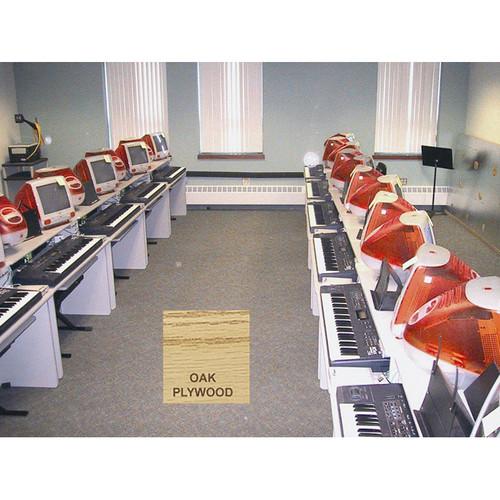 Omnirax Compact Classroom Keyboard Desk for 2 DUALTABLEOPW BH