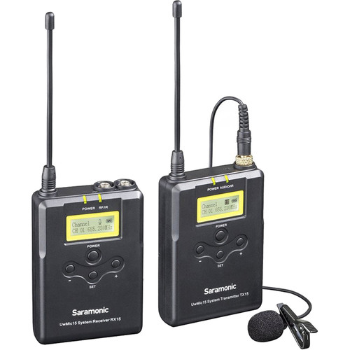 Saramonic RX15+TX15 UHF Wireless Lavalier Microphone System