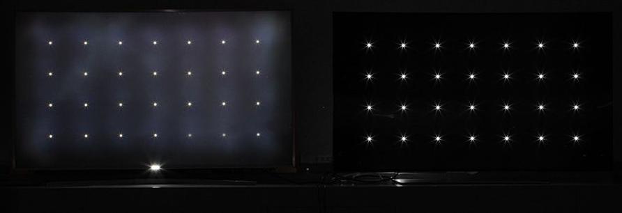 LED TV (left) vs OLED TV (right)