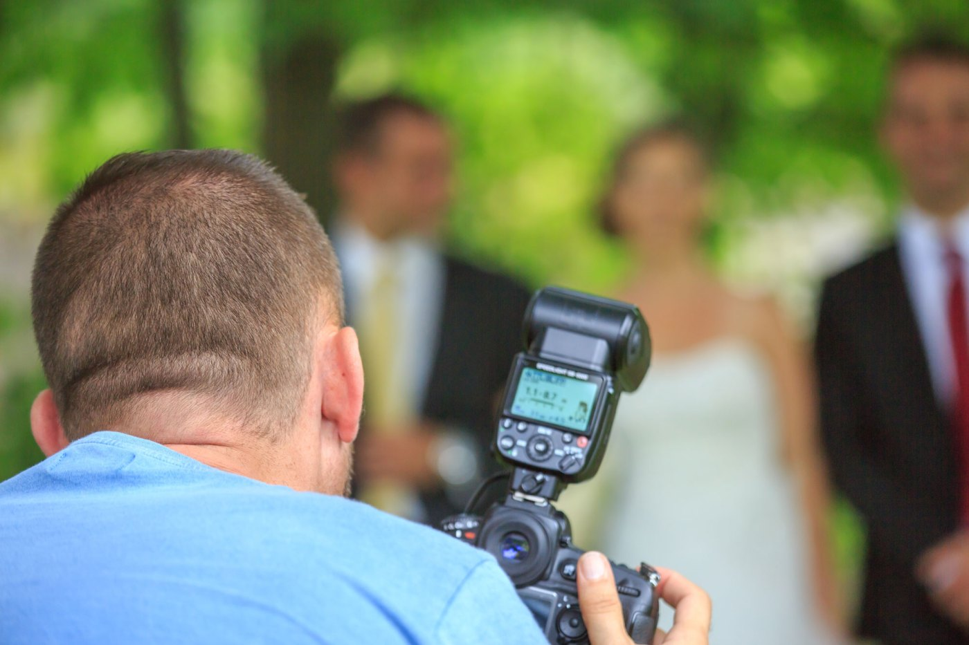 On-camera flashes are popular choices for wedding and event photographers.