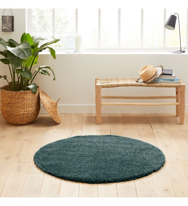tapis shaggy rond aspect laineux afaw
