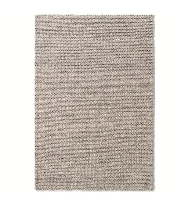 tapis pure laine diano effet tricot