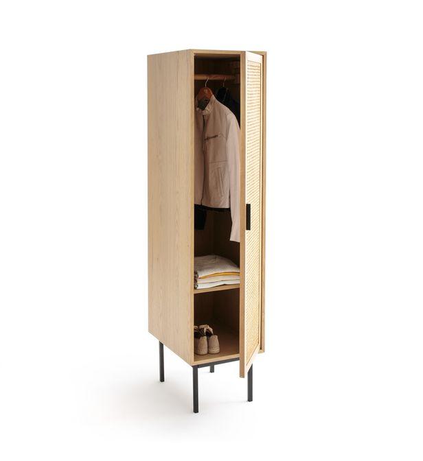 armoire 1 porte cannage penderie