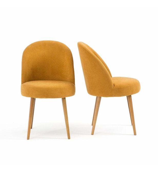 lot de 2 fauteuils de table velours