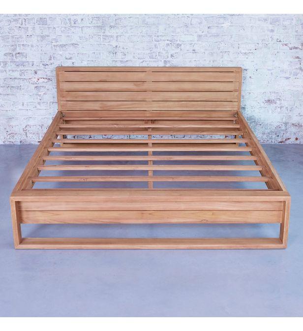 lit en bois de teck 160x200 minimalys