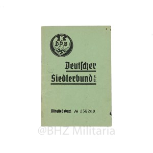 Membership book Deutscher Siedlerbund