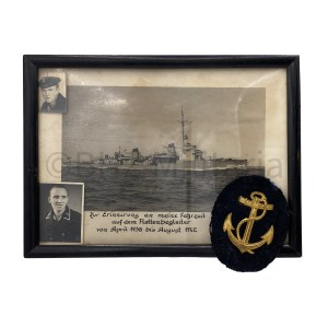 Kriegsmarine Bootmannsmaat Photo and Badge