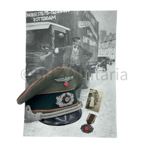 Set Panzer Visorcap, NSDAP Medal and photo's