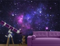 Fleece Wall Mural Galaxy Wallpaper Wall art Wall decor ...