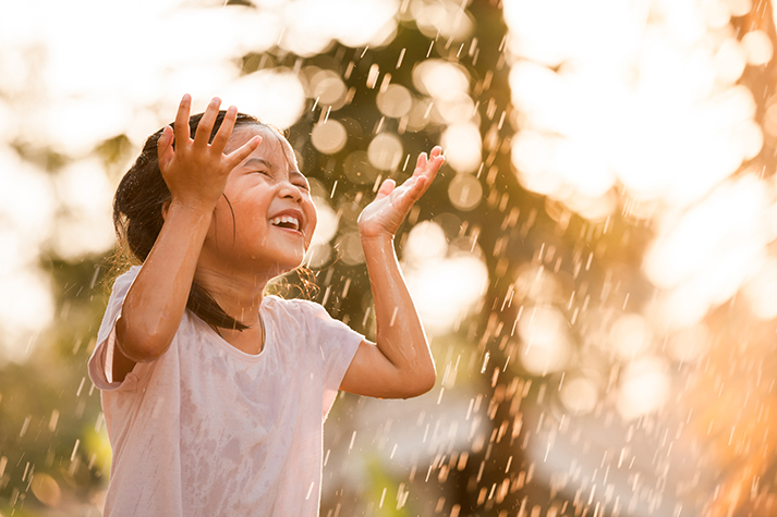Image result for Girl laughing in the rain and sun